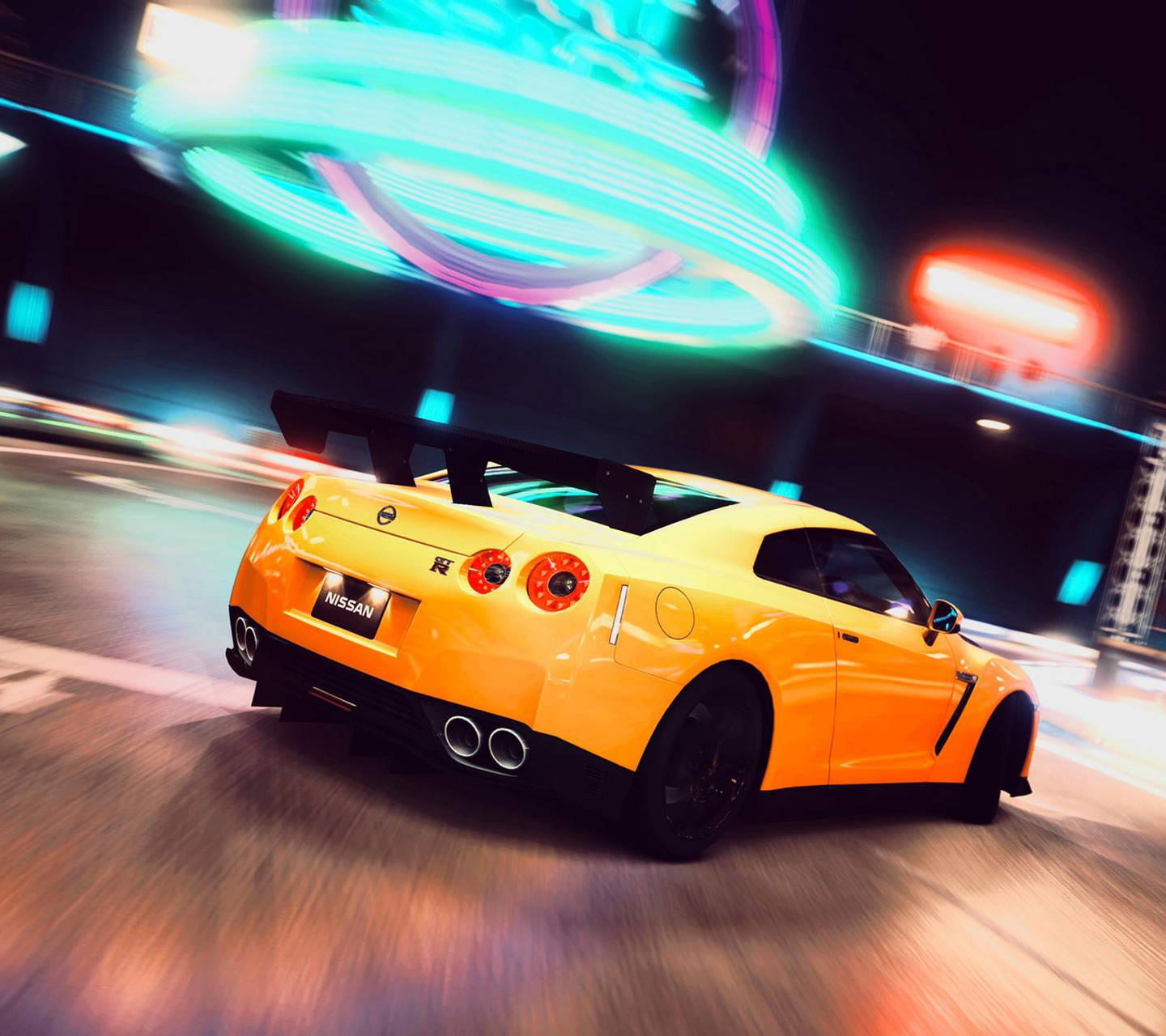 Yellow Nisan GT-R