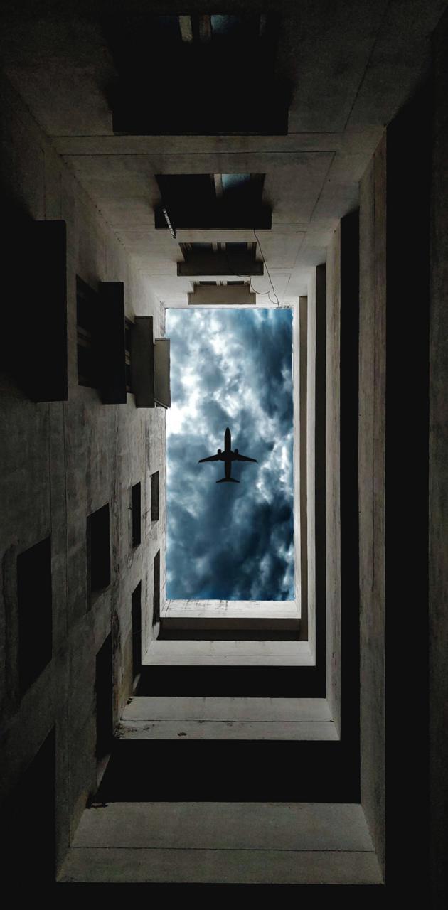 Cloudy day aeroplane