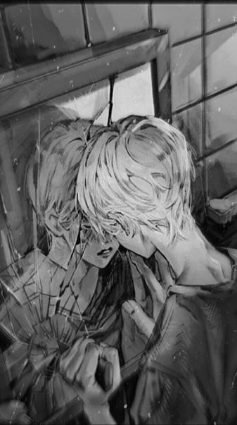 Sad anime boy