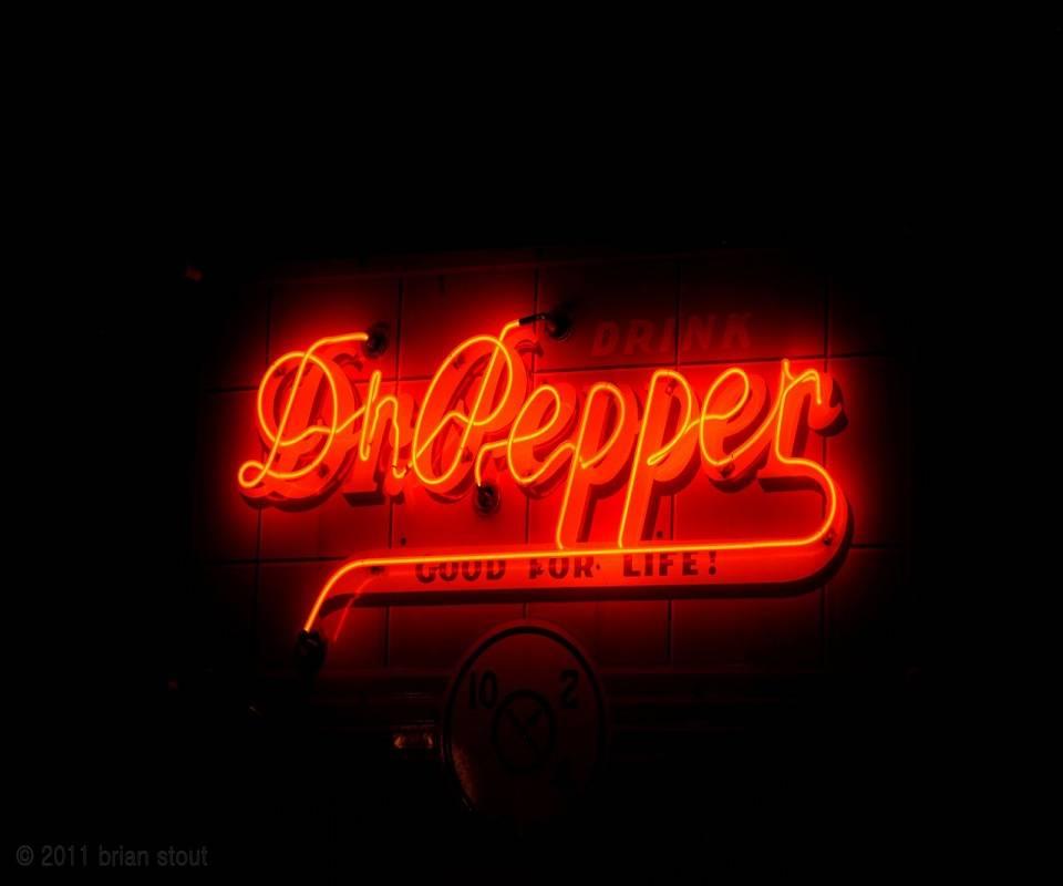 Neon Dr Pepper