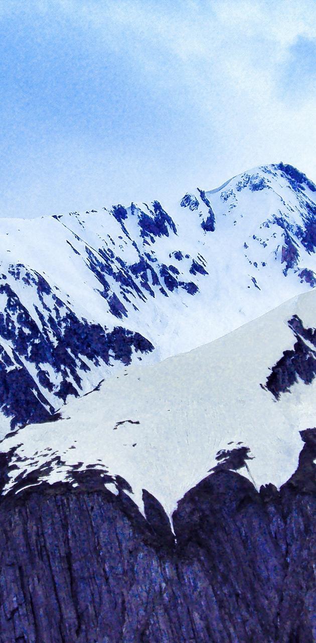 Snow hills of Shimla