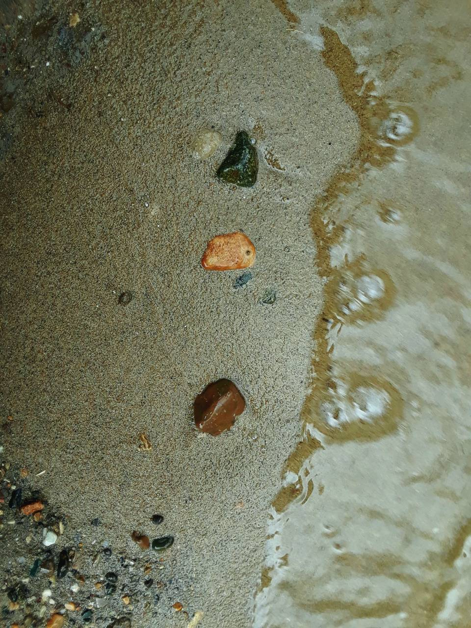 Rocks on the sand