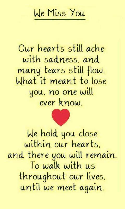 We miss u