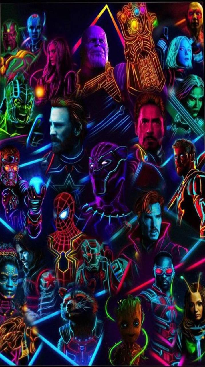 Avengers Neon wallpaper by BryaannT - de - Free on ZEDGE™