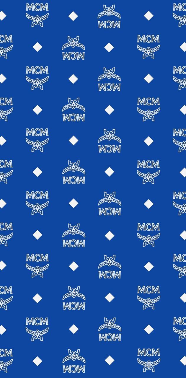 Blue MCM Monogram