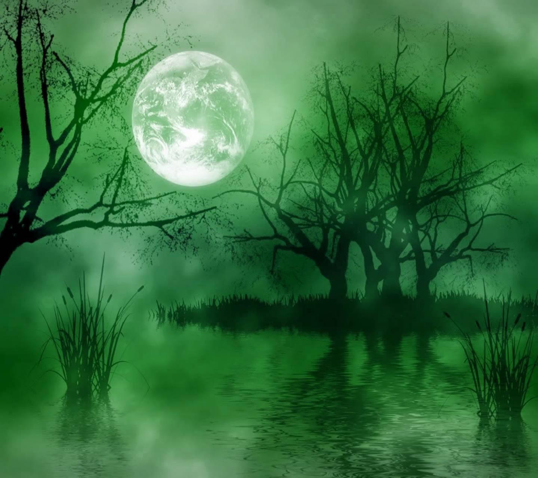 Full Moon Landscape