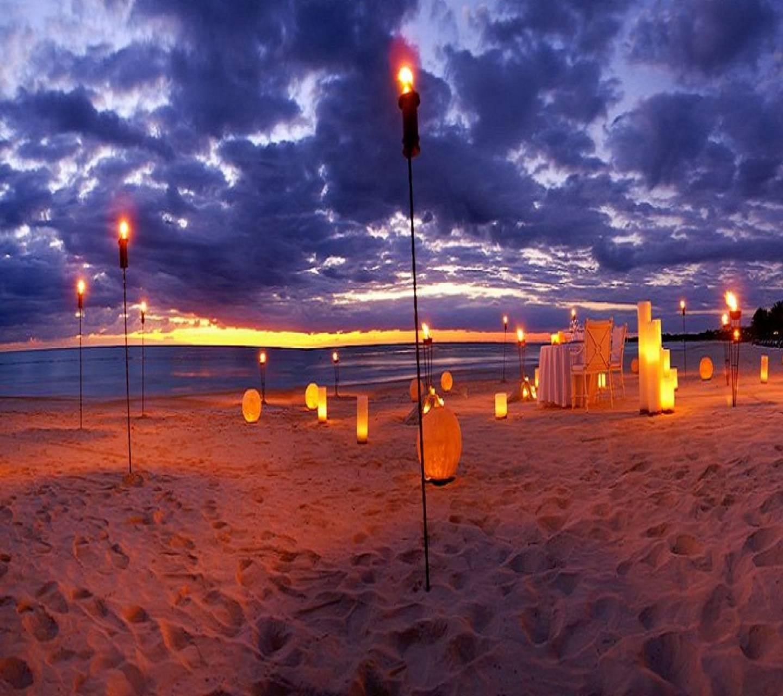 romance at beach
