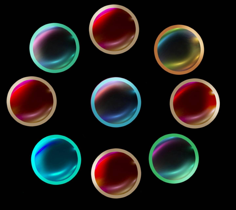 Colored Nine Circles