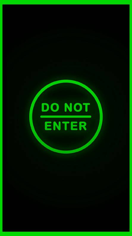 Do Not Enter Green