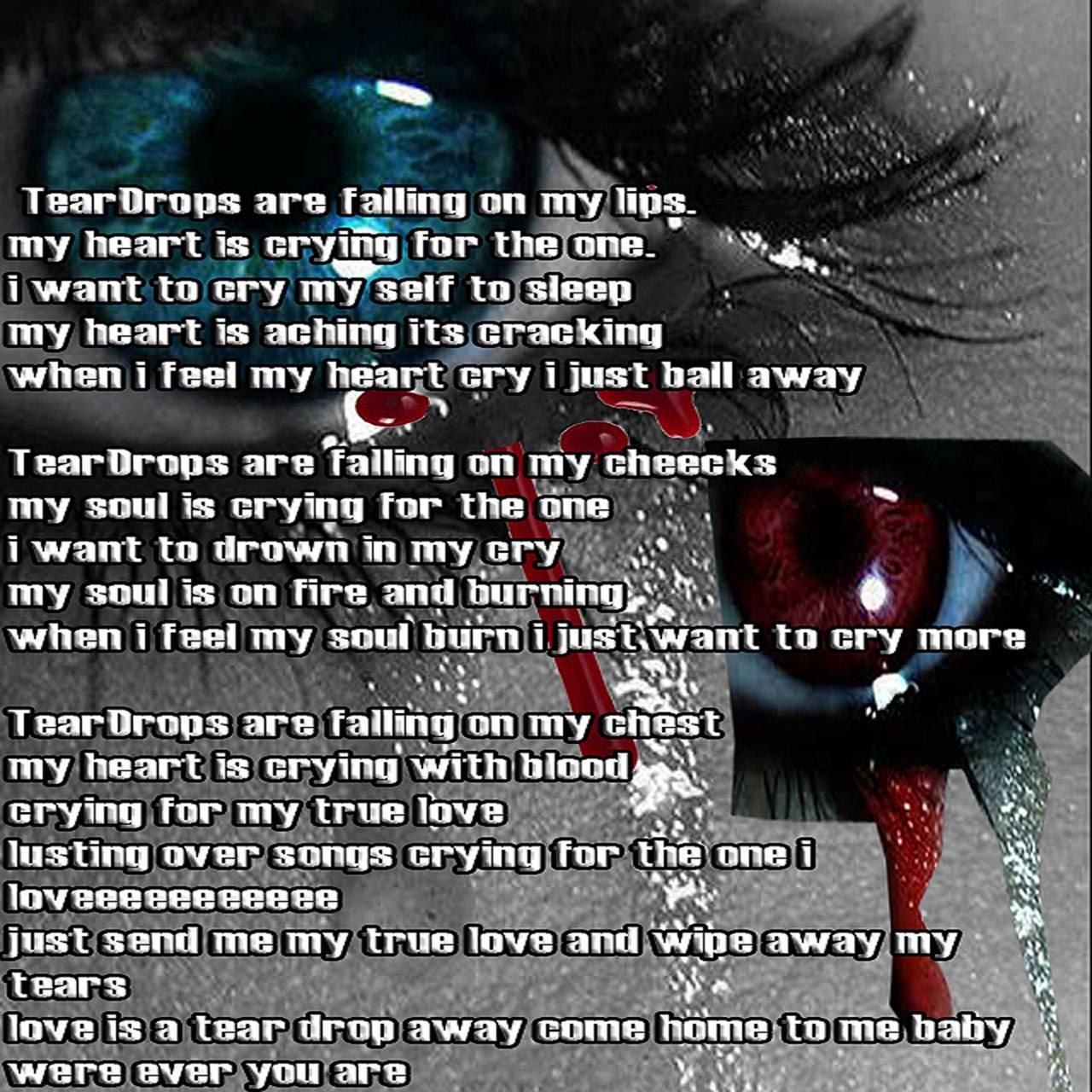 tear drop poem