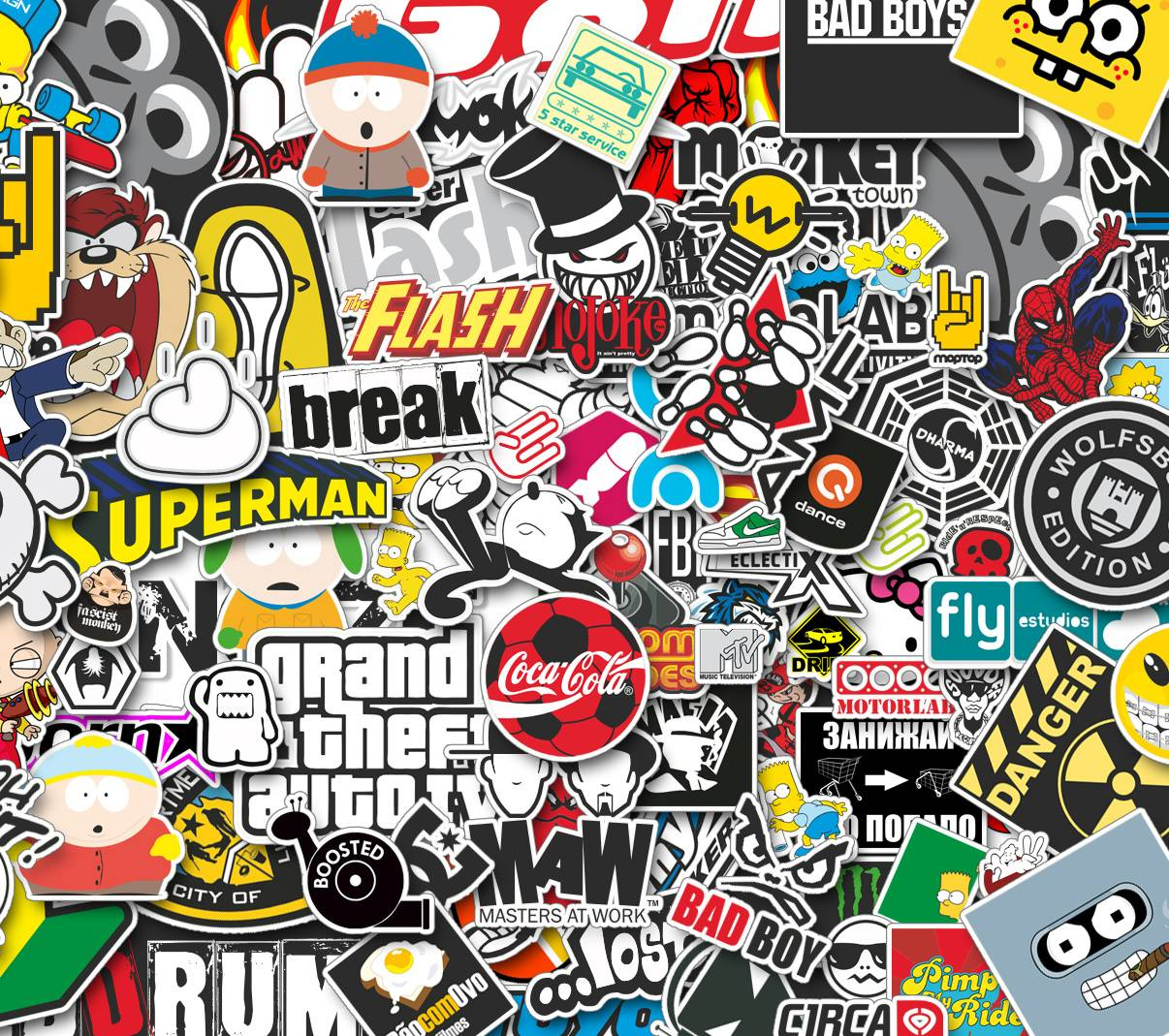 Stickerbomb Wallpaper By AlchohaulinA55