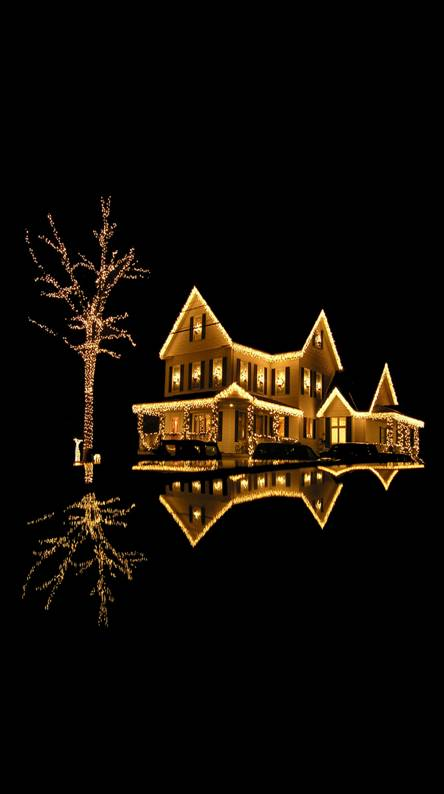 Lighted house