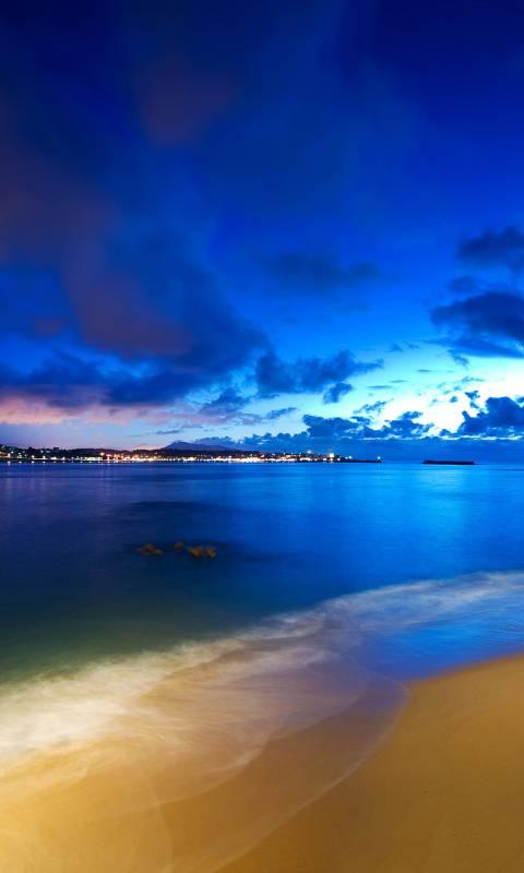 night beach