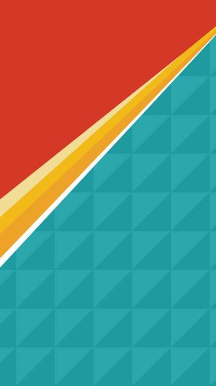 orange torquise line