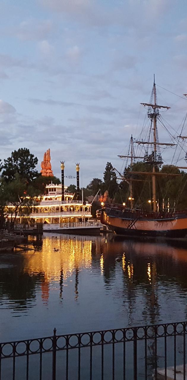 Boats at Disneyland