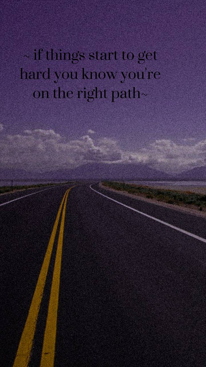 Night road quote
