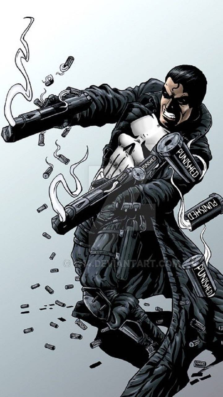 Punisher Gun Logo Wallpaper
