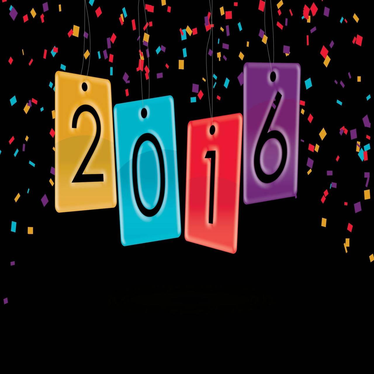 2016 under confetti