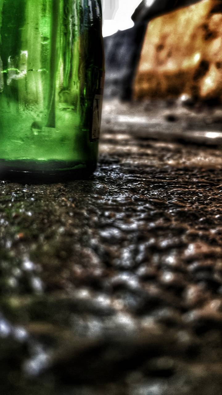 Bottle on the road