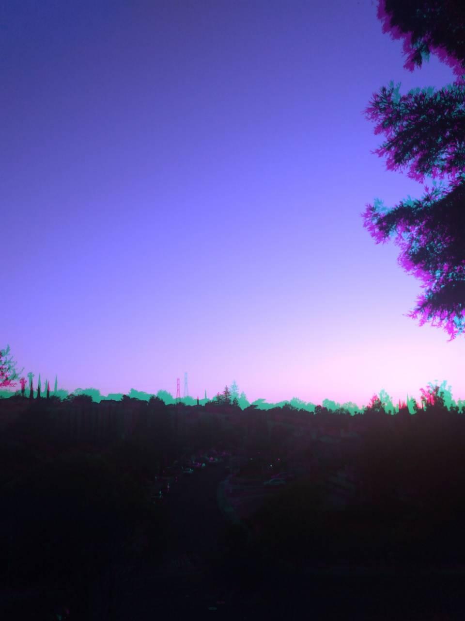 Beautiful blu sunset