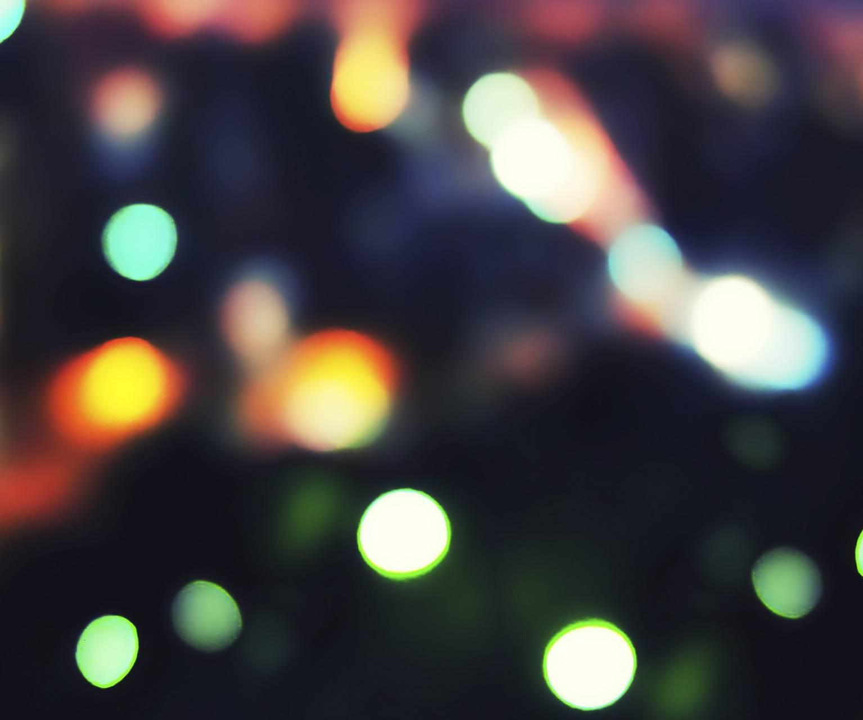 Blured bokeh flares