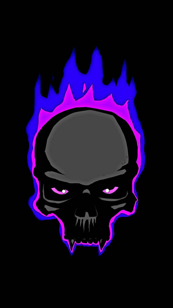 Purple Flame Skull