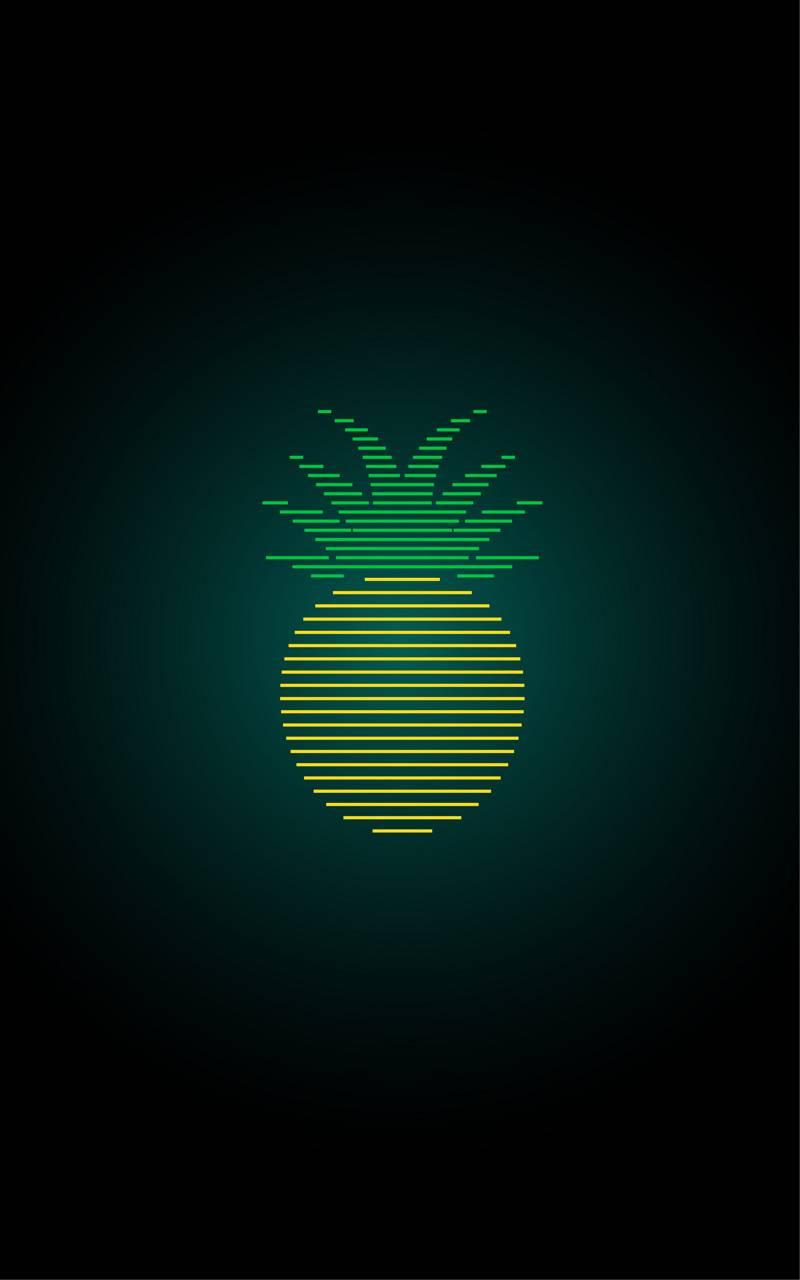 pineapple line art