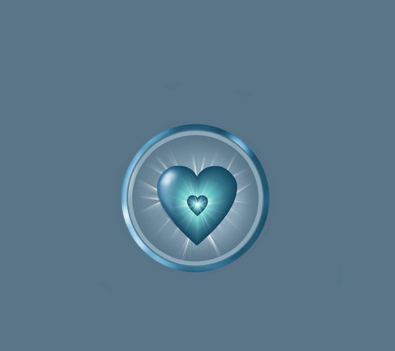 Shining Blue Heart