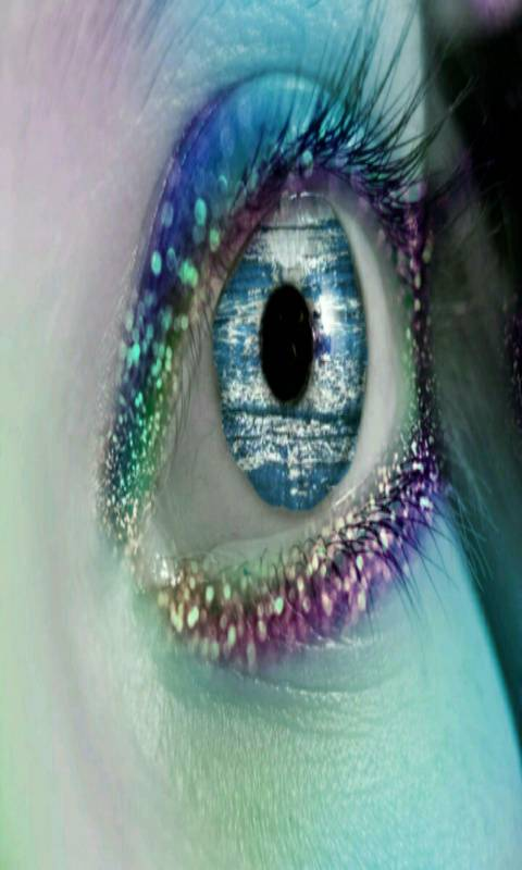 colorful glitter Eye
