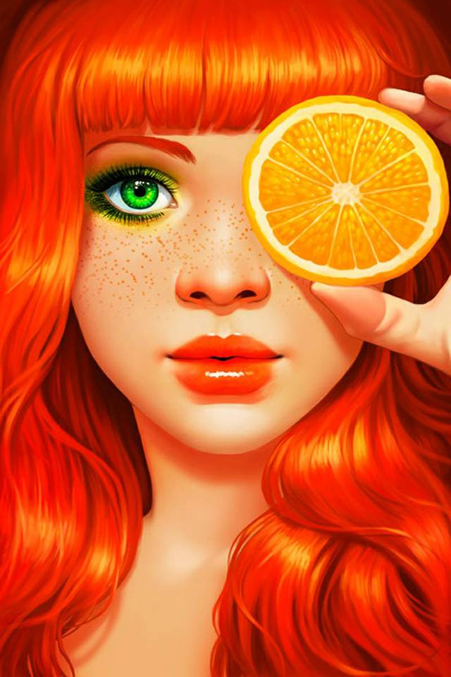 The Girl With Orange