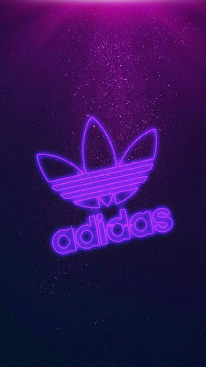 Purple lit adidas