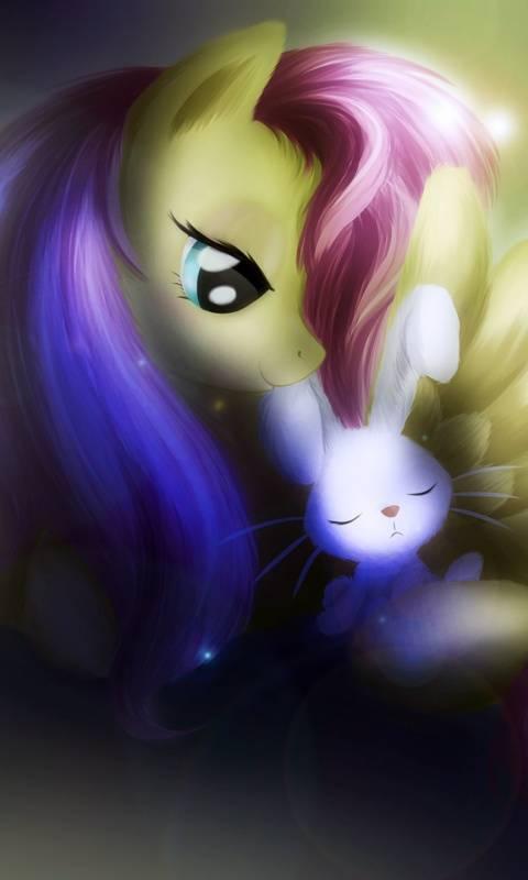 pony and rabbit