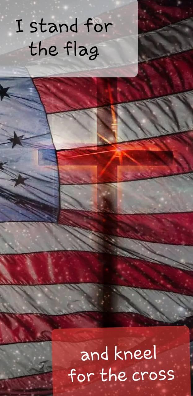 American Flag Cross Wallpaper By Wolfie96 46 Free On Zedge