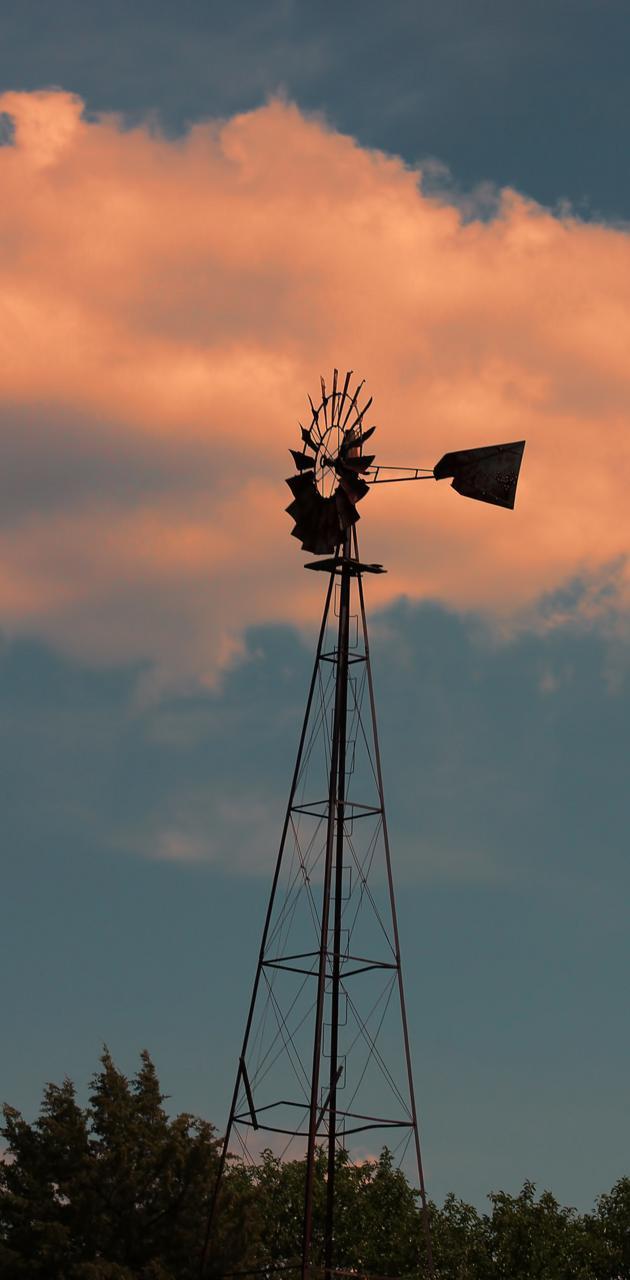 Silhouette Windmill