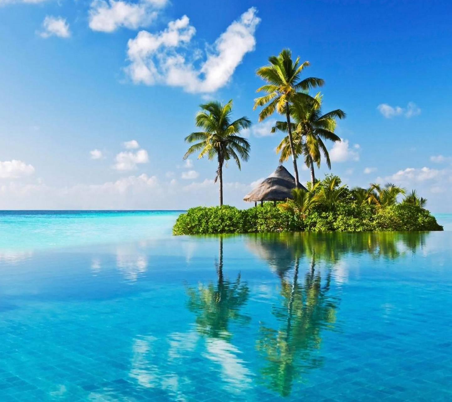 Island Beach Wallpaper: Summer Island Wallpaper By Floradam