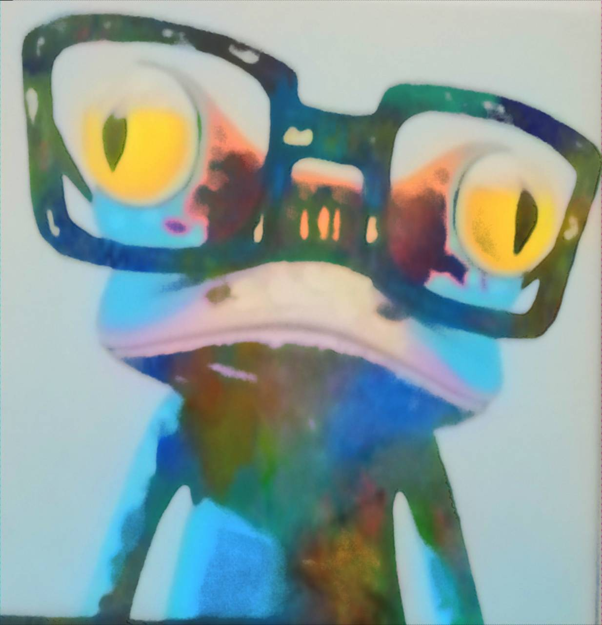 Smart Colourful Frog
