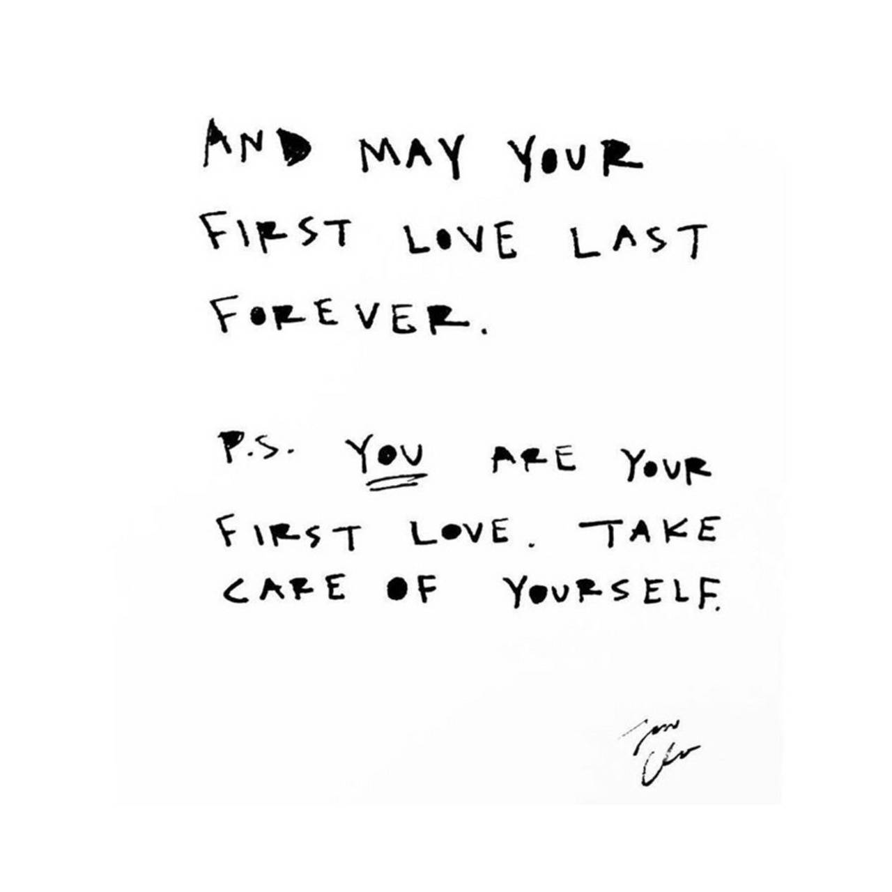 You are your first