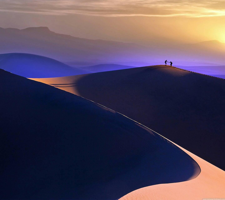 Purple desert