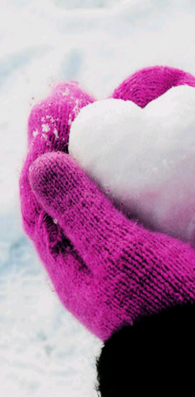 Heart snow