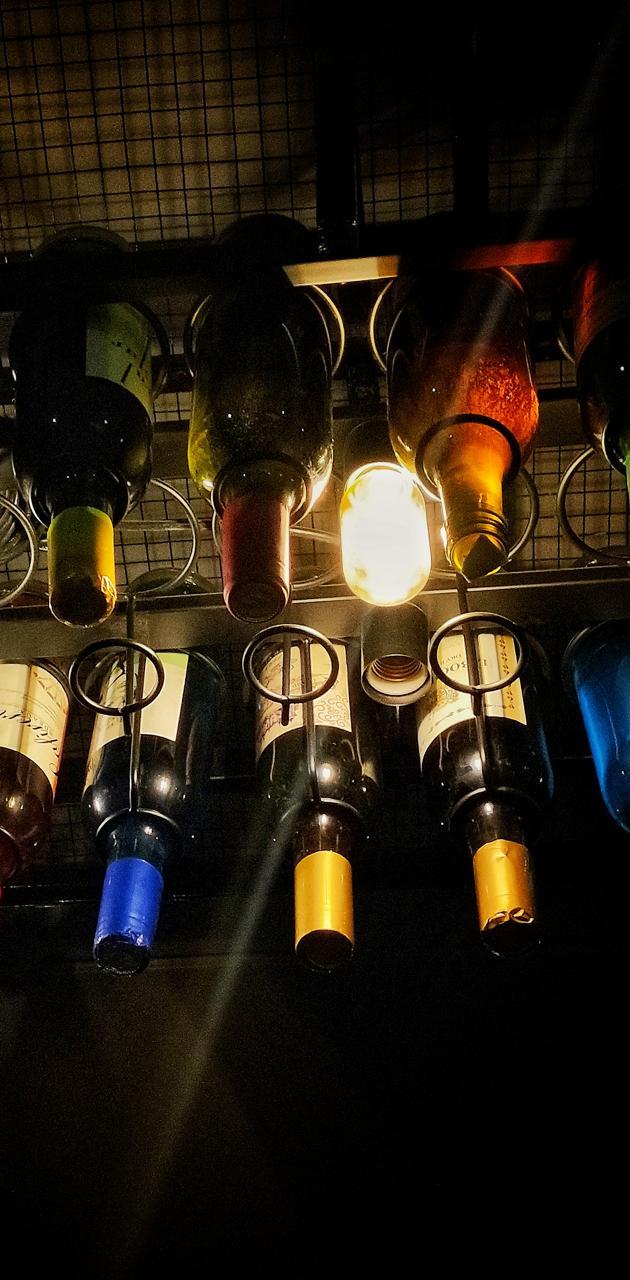 Bottles upside down