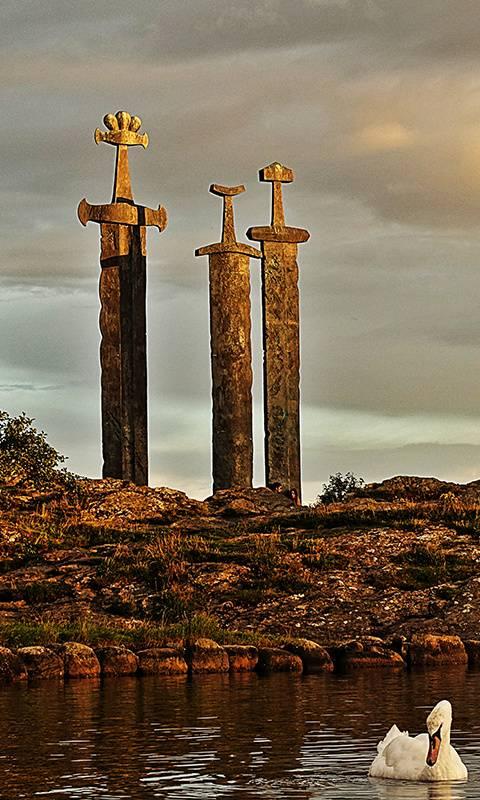 Norway stone swords