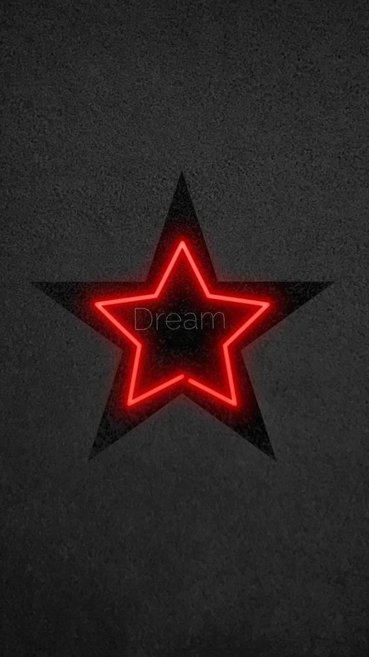 Neon Black Star