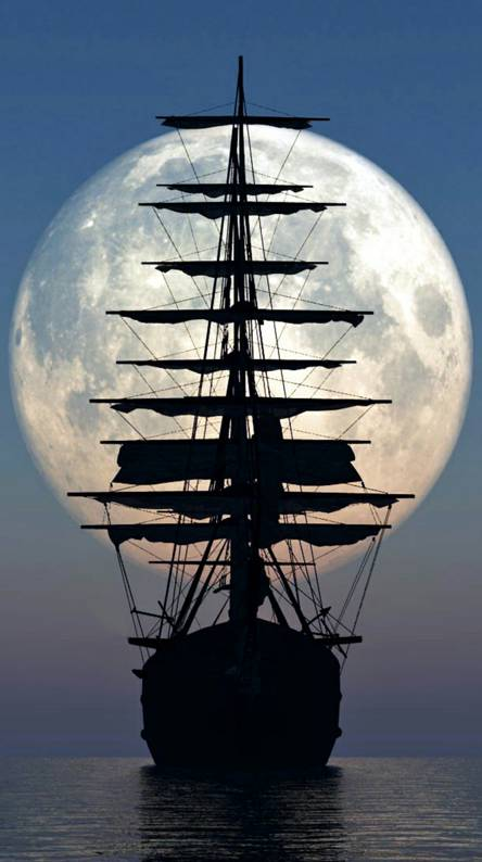 Ship and Moon