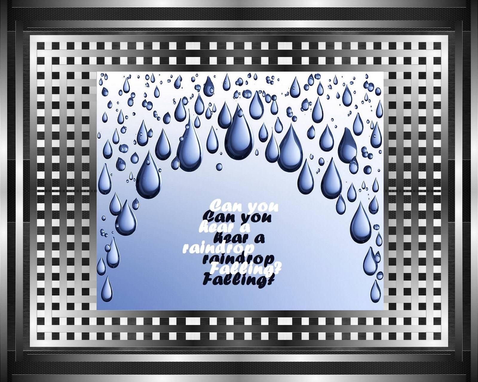 Rain drop falling