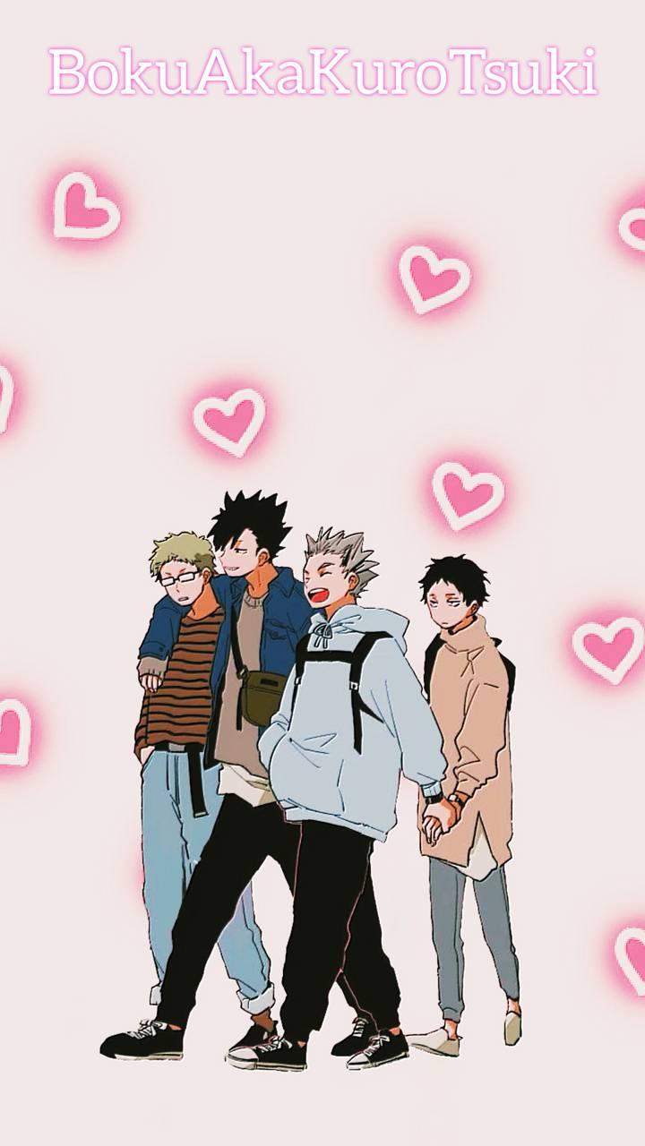 Haikyuu the 4 boys