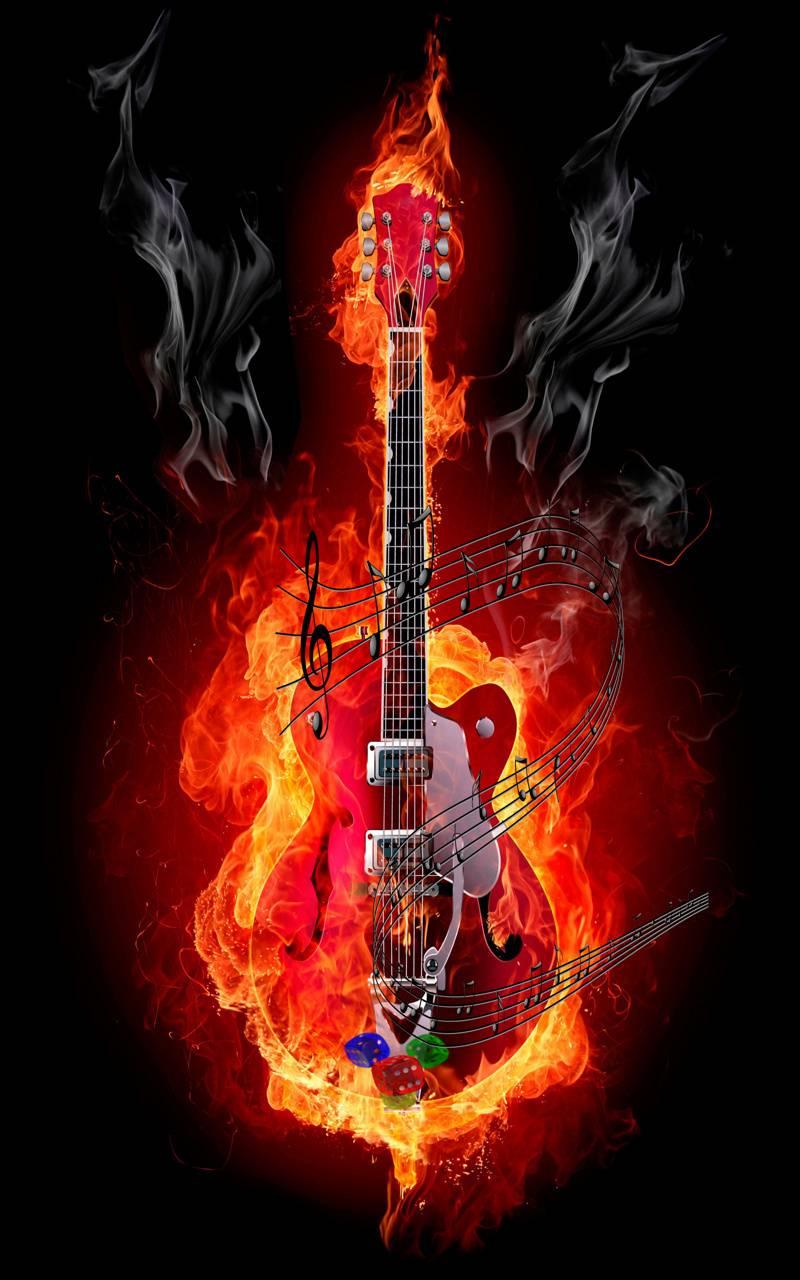 guitar  burning