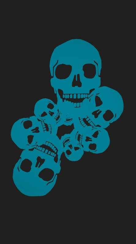 Blue Flaming Skull Wallpapers Free By Zedge
